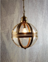 Saxon Pendant Light A/Brass Small 32cm