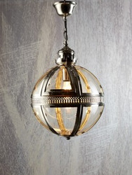 Saxon Pendant Light Nickel Small 32cm