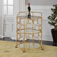 Xandra Serving Cart by Uttermost