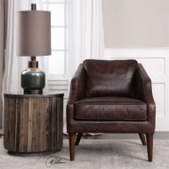 Dorado Leather Club Chair by Uttermost
