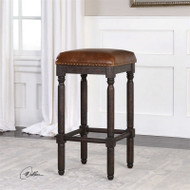 Riva Leather Bar Stool by Uttermost