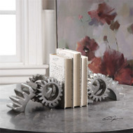 Gears Bookends Set/2 by Uttermost