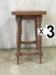 Provence Counter Stool - Vintage Driftwood (Set of 3)