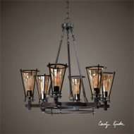 Frisco 6-Lamp Chandelier by Uttermost