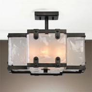 Brattleboro 4-Lamp Semi Flush Mount Light by Uttermost