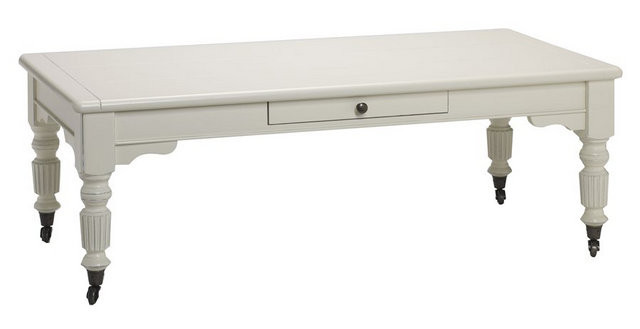 bella house cambria coffee table 2 drawer - french modern classic