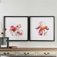 Blooms Hermanas Set/2 - Framed Artwork a Prints Framed by Uttermost