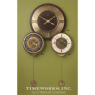 Leonardo Chronograph Wall Clock Black by Uttermost