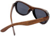 Rockaway Butterfly Polarized Brown Bamboo Wood Sunglasses Back