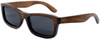 Whitehaven Rectangular Polarized Brown Bamboo Wood Frame Sunglasses Side