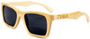 Cloudbreak Polarized Square Natural Bamboo Wooden Sunglasses Side
