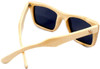 Cloudbreak Polarized Square Natural Bamboo Wooden Sunglasses Back