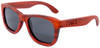Coronado Wayfarer Style Polarized Red Rosewood Frame Sunglasses Side