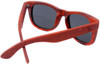 Coronado Wayfarer Style Polarized Red Rosewood Frame Sunglasses Back