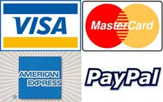 Maka Wear Accepts Visa Master Card American Express and Paypal