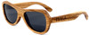 Rockaway Butterfly Polarized Zebrawood Sunglasses Side
