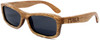 Whitehaven Rectangular Polarized Duwood Sunglasses Side