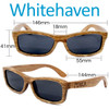 Whitehaven Rectangular Duwood Wood Sunglasses Dimensions Size