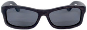 Whitehaven Rectangular Polarized Ebony Wooden Sunglasses Straight