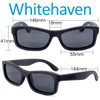 Whitehaven Rectangular Ebony Wood Sunglasses Dimensions Size