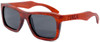 Cloudbreak Polarized Square Red Rosewood Sunglasses Side
