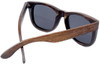 Coronado Wayfarer Style Polarized  Brown Bamboo Wood Frame Sunglasses Back
