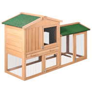 128cm 2 StoreyWooden Rabbit Chicken Guinea Pig Hutch
