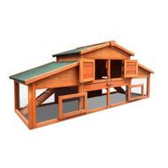 2 Storey Wooden Hutch Coop Cage