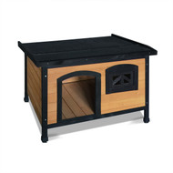 85 cm Timber Wooden Outdoor Pet Kennel with Elevated Floor