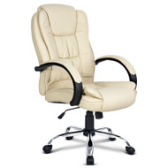 Executive PU Leather Office Computer Chair - Beige