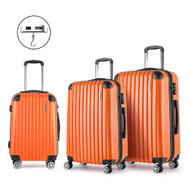 Wanderlite Luggage Case 3 PCS Orange