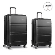 "2pc Luggage Set 20 & 28"" - Black"""