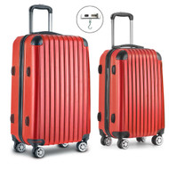 Wanderlite Luggage Case 2 PCS Red