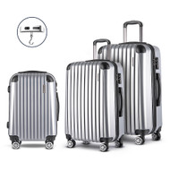Wanderlite Luggage Case 3 PCS Silver