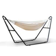 Gardeon Hammock Bed with Steel Frame Stand - Cream