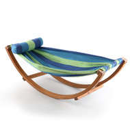 Keezi Kids Timber Hammock Bed Swing - Blue