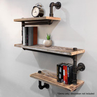 Artiss 3 Level 84cm DIY Adjustable Metal Bookshelf