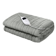 Giselle Bedding Heated Electric Throw Rug Fleece Sunggle Blanket Washable Silver