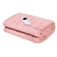 Giselle Bedding Heated Electric Throw Rug Fleece Sunggle Blanket Washable Pink
