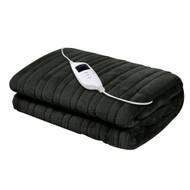 Giselle Bedding Heated Electric Throw Rug Fleece Sunggle Blanket Washable Charcoal