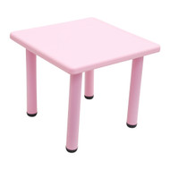 60x60cm Kids Toddler Children Square Playing Activity Party Table Pink
