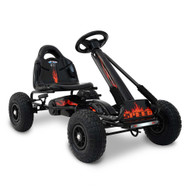 RIGO Kids Pedal Go Kart Car Ride On Toys Racing Bike Black