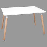 160x90cm Eames Rectangle Dining Table with Timber Legs