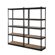 2x0.9M 5-Shelves Steel Warehouse Shelving Racking Garage Storage Rack Black