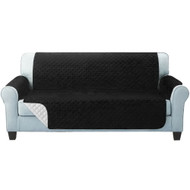 Artiss Sofa Cover Quilted Couch Covers Protector Slipcovers 3 Seater Black