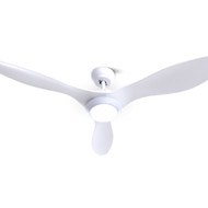 52 DC Motor Ceiling Fan with LED Light with Remote 8H Timer Reverse Mode 5 Speeds White""