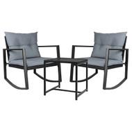 Gardeon Outdoor Chair Rocking Set - Black