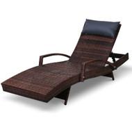 Gardeon Outdoor Sun Lounge Furniture Day Bed Wicker Pillow Sofa Set S2