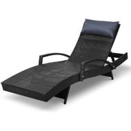 Gardeon Outdoor Sun Lounge Furniture Day Bed Wicker Pillow Sofa Set S1