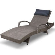 Gardeon Outdoor Sun Lounge Furniture Day Bed Wicker Pillow Sofa Set S3